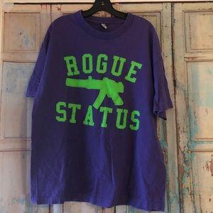 Rogue Status purple graphic tee